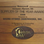 Honeywell Supplier of the Year Award