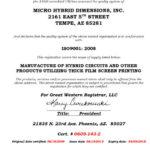 ISO Certification of Registration